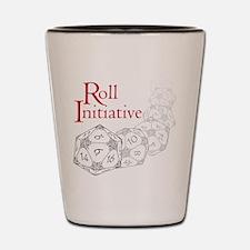 Roll Initiative (6 Dice) Shot Glass