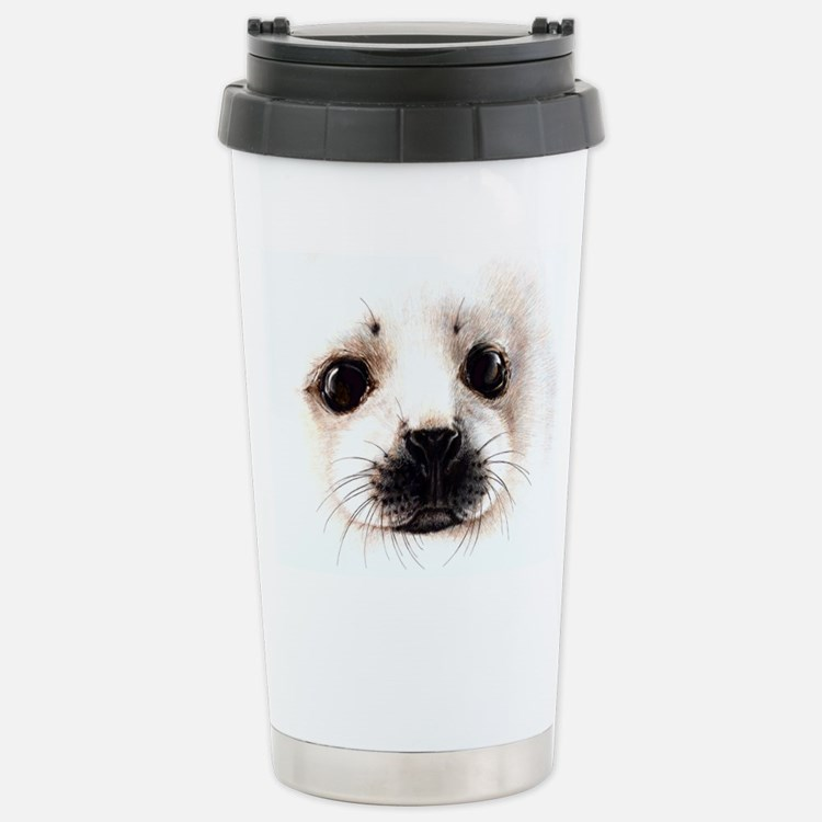 Cute Harp seal Travel Mug