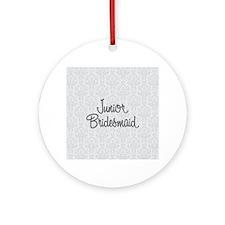 Junior Bridesmaid Round Ornament