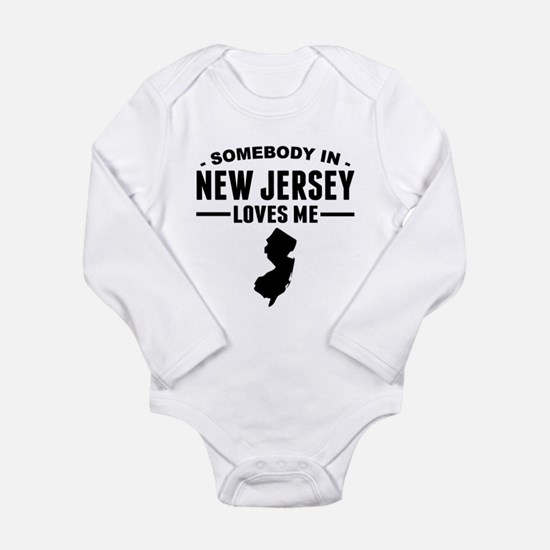 New jersey baby clothes cafepress somebody in new jersey loves me body suit negle Images