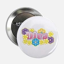 Diva Flowers Button