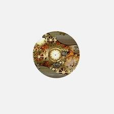 Steampunk, awesome steampunk design Mini Button