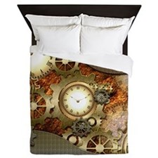 Steampunk, awesome steampunk design Queen Duvet