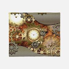 Steampunk, awesome steampunk design Throw Blanket