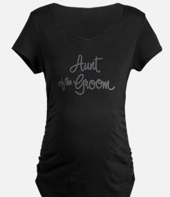 Aunt of the Groom Maternity T-Shirt