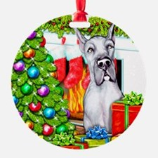 Great Dane Stockings Blue Ornament