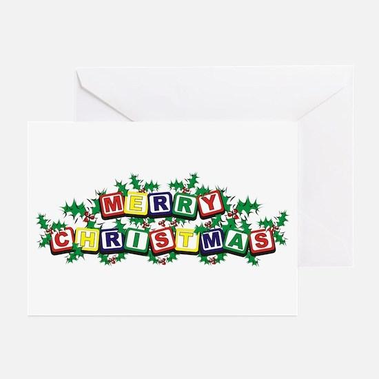 Christmas Blocks Greeting Cards (Pk of 10)