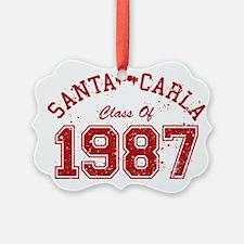 Santa Carla Class Of 1987 Ornament