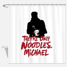 They're Only Noodles Michael Shower Curtain