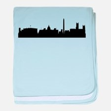 Washington DC Cityscape Skyline baby blanket