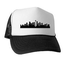 Seattle Cityscape Skyline Trucker Hat