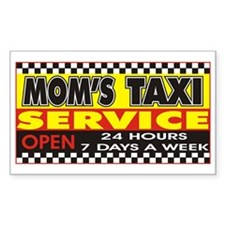 Mom's Taxi Service Rectangle Decal