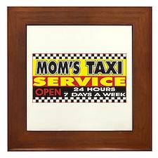 Mom's Taxi Service Framed Tile