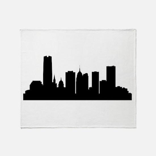 Oklahoma City Cityscape Skyline Throw Blanket