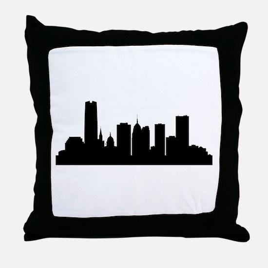 Oklahoma City Cityscape Skyline Throw Pillow