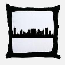 Nashville Cityscape Skyline Throw Pillow