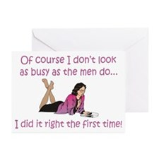I Did It Right The First Time Greeting Cards (Pack