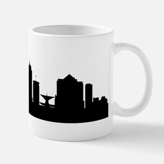 Milwaukee Cityscape Skyline Mugs