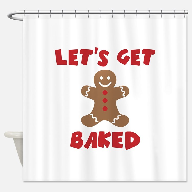 Funny christmas shower curtains funny christmas fabric for Funny shower curtains