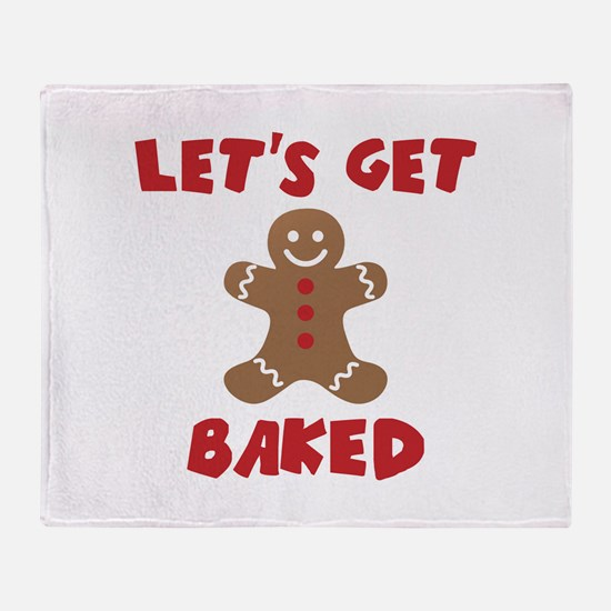 Let's Get Baked Funny Christmas Throw Blanket