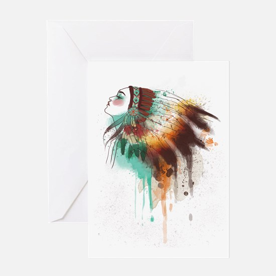 Unique American indian art Greeting Card