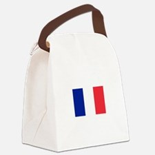 French Flag Canvas Lunch Bag