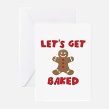 Let's Get Baked Funny Christmas Greeting Cards