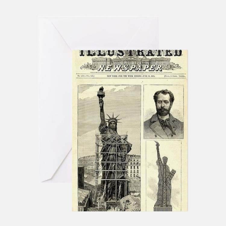 Cute Statue of liberty statue Greeting Card