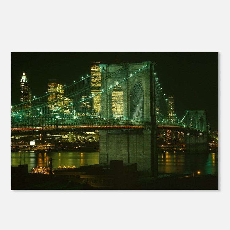 Cute New york at night Postcards (Package of 8)