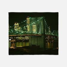 Cute Brooklyn bridge Throw Blanket