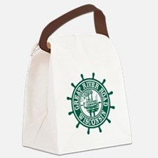 Great River Road Wisconsin Canvas Lunch Bag