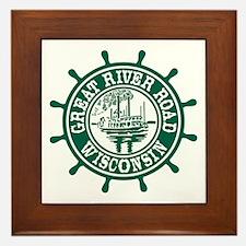 Great River Road Wisconsin Framed Tile
