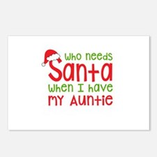 Who Needs Santa - Auntie Postcards (Package of 8)