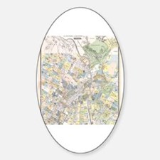 Funny Los angeles map Sticker (Oval)