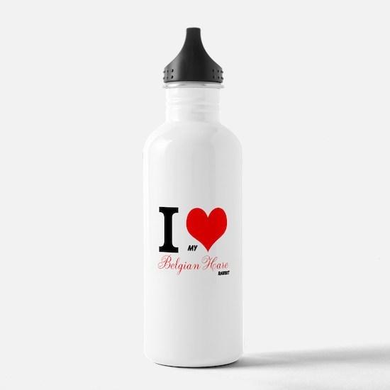 I heart my Belgian Hare Water Bottle