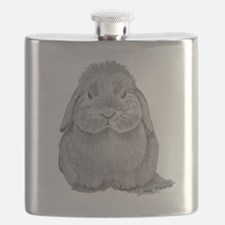 Holland Lop by Karla Hetzler Flask