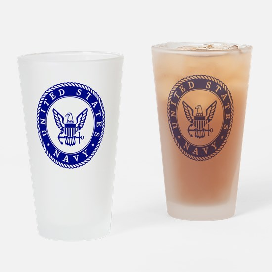 US Navy Drinking Glass