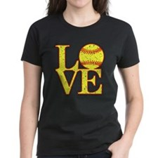 Love Softball Distressed T-Shirt