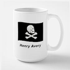 Pirate Flag - Henry Avery Large Mug