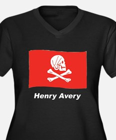 Pirate Flag - Henry Avery (Front) Women's Plus Siz