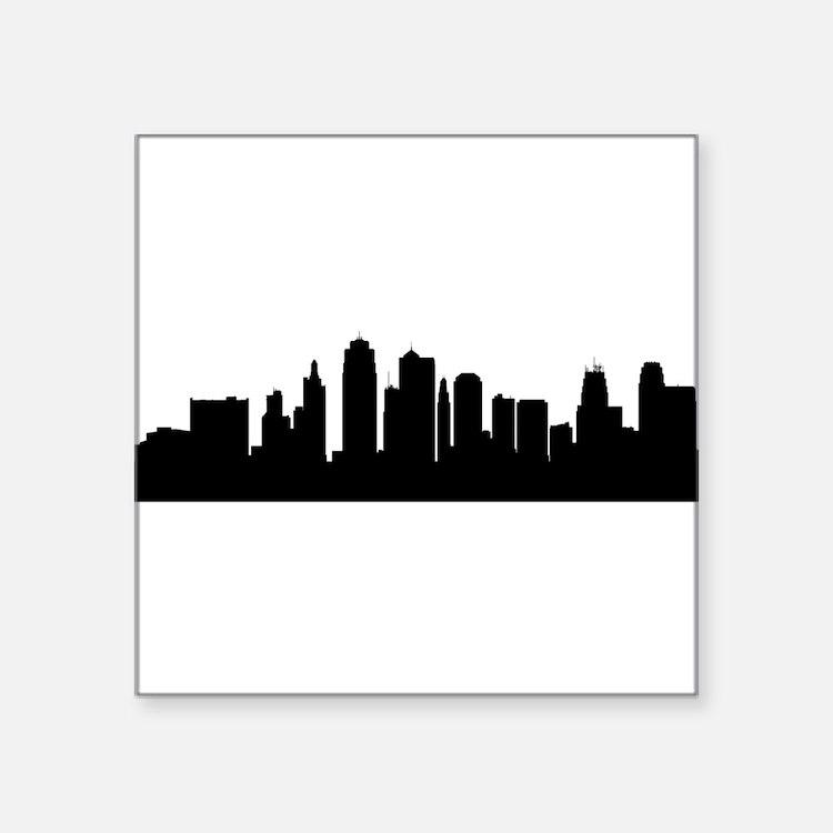Kansas City Cityscape Skyline Sticker
