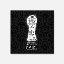 "AHS Hotel Keyhole Square Sticker 3"" x 3"""