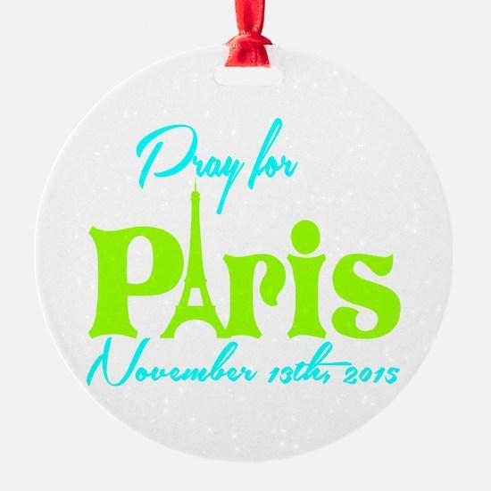 Pray for Paris Ornament