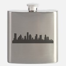 Houston Cityscape Skyline Flask