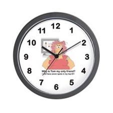 Lonely My Space Lady Wall Clock