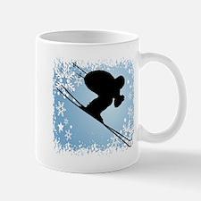 SKI DOWNHILL (blue) Mug