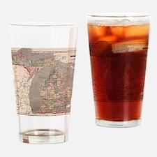 Cool I love michigan Drinking Glass