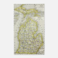 Cute State of michigan Area Rug