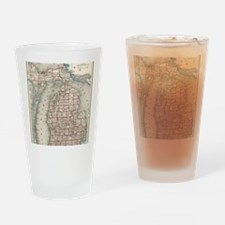 Funny I love michigan Drinking Glass
