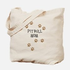Pitbull Mom Tote Bag